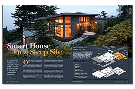 steep site house plans smart house for a steep site fine homebuilding