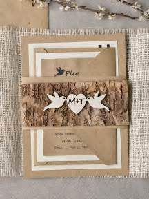 Ways To Diy Rustic Wedding Invitations With Wood Paper