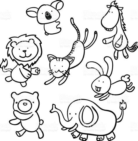 imagenes animadas en blanco y negro animales de dibujos animados en blanco y negro arte