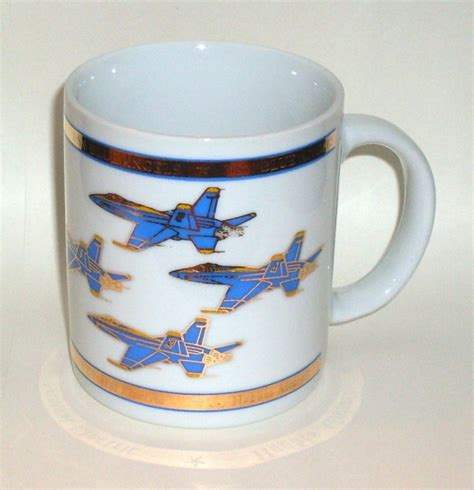 gold coffee mug blue angels coffee cup mug gold embossed 12 oz