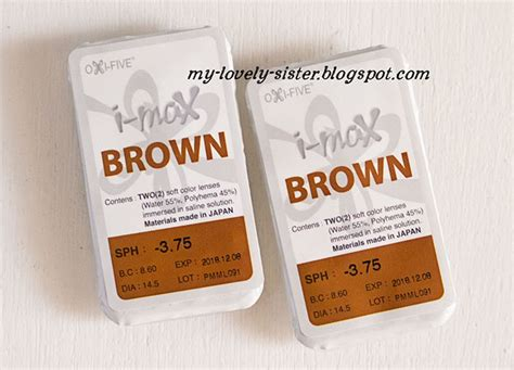 Softlens Bening Oxi Five Omega L1p2 my lovely a with review i max brown by omega