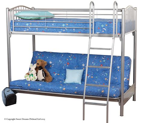 bunk bed with double futon troy single bunk bed with double sofabed crendon beds