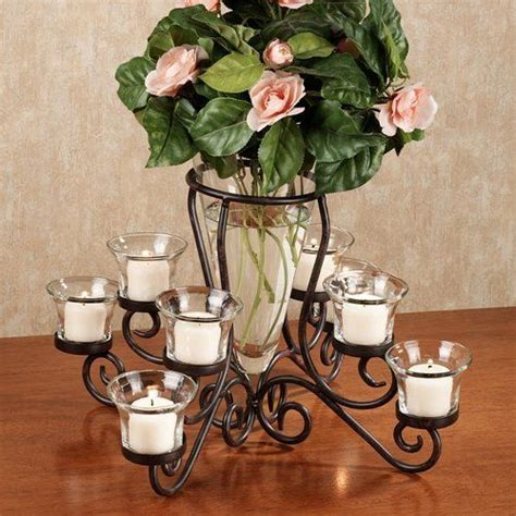 Candle Holders For Dining Room Table Candle Vase Centerpiece Table Tealight Flower Holder