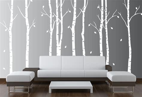 birch tree wall stickers large wall birch tree nursery decal forest vinyl
