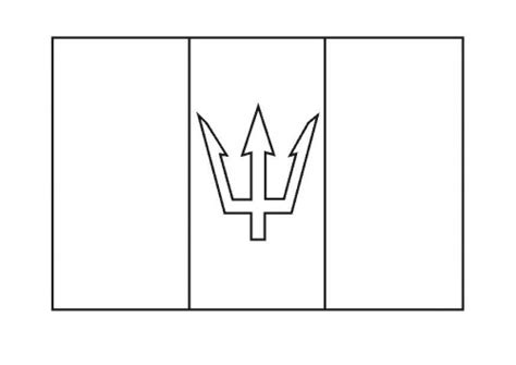 Barbados Flag Coloring Page free barbados coloring pages