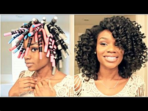 how do you rod short relaxed natural hair flexi rod set for big hydrated curls using