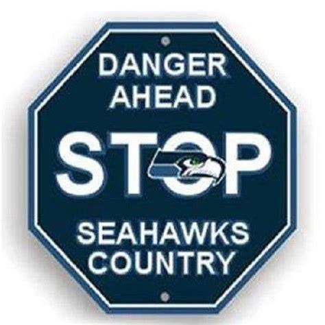 one stop fan shop nfl seattle seahawks stop sign room bar decor 12 x 12