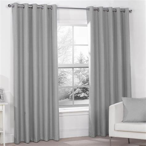 silver curtains for bedroom luna silver grey luxury thermal blackout eyelet curtains