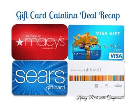 Gift Card Catalina - gift card catalina deals save up to 20 on groceries living rich with coupons 174