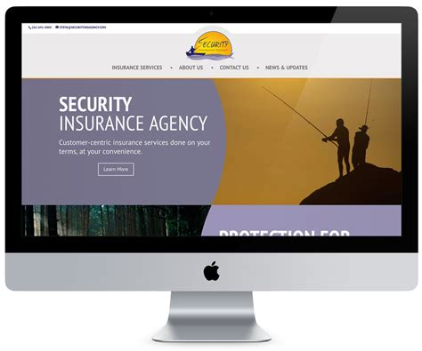 security insurance agency website limeglow design