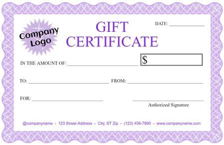 Create Your Own Gift Certificate Template Free Wally Designs Design A Gift Certificate Template Free