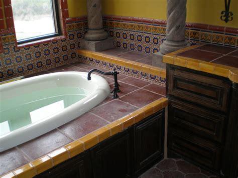 mexican bathtub mexican tile mediterranean bathroom austin by clay