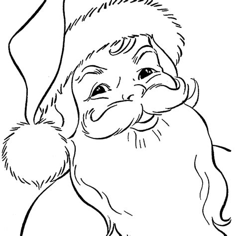 santa claus pictures to color free santa coloring pages and printables for