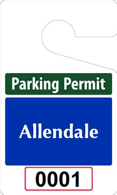 parking permit template free custom parking tag designs 5 x 3