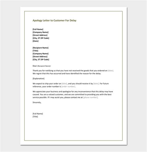 business apology letter late delivery apology letter to customer 4 useful sles formats