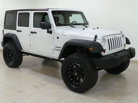 jeep white white 2012 jeep wrangler road wheels larry green