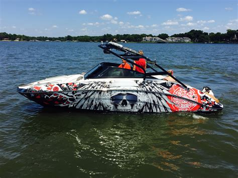 boat names with blue in them boat wraps portfolio boat wraps wake graphics
