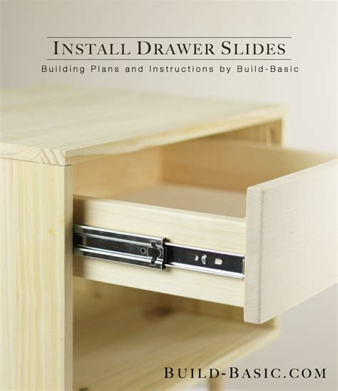 installing drawers in cabinets how to install slides build basic