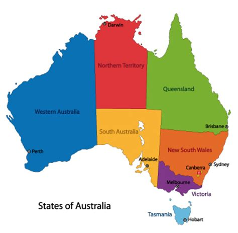 map of australia with territories the origin of the names of australia s states and