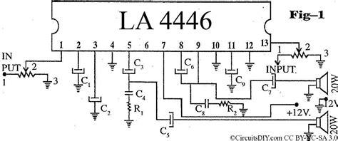 Ic La 4440 Integrated Circuit La4440 high performance la4446 stereo audio lifier circuit circuits diy