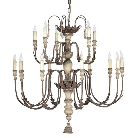 Country Chandelier Antique Silver Country 14 Light Chandelier