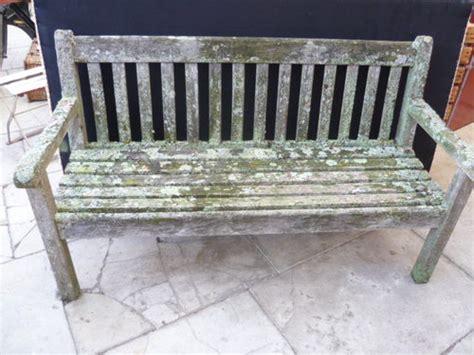 antiques atlas vintage weathered teak garden bench