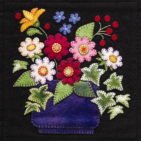 quilt pattern applique summertime sler wool applique quilt pattern