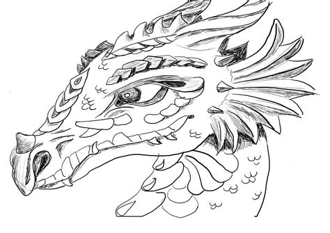 coloring pages of dragon heads water and fire dragons coloring pages
