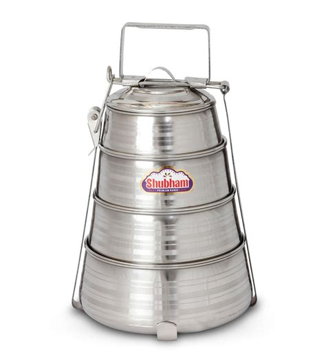 Lunch Box Set Piled Box Family 1 shubham steel lunch box tiffin pyramid 4 containers set by shubham lunch boxes
