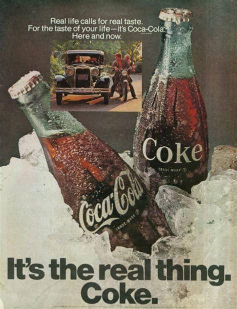 Coke Is The Real Thing For Andy it s the real thing coke 1 1969