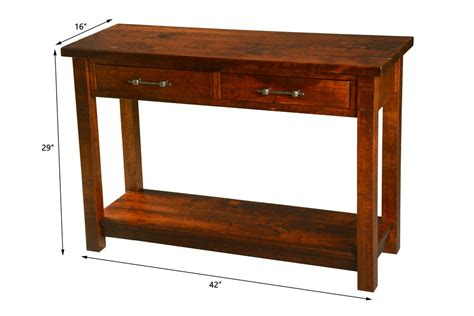sofa table measurements timber mill open sofa table dutch craft furniture