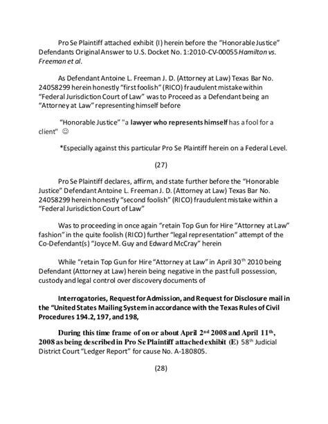 58th District Court Records Motion To Freeze Documents Assets Of Defendant Antoine L Freeman J