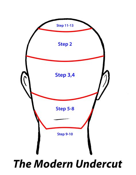 diagrams on how to cut new hairstyles how to cut hair learn the modern undercut haircut