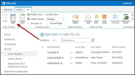 quick edit gotcha in sharepoint 2013 views from veronique