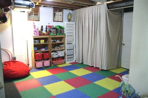 unfinished basement playroom ideas the schills