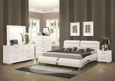 stanton ultra modern pcs glossy white king size platform bedroom set furniture ebay