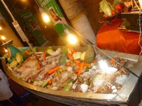 seafood boat seafood display boat picture of lobster prawn