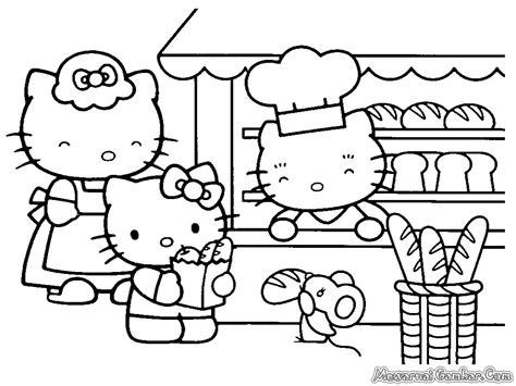 mewarna gambar hello kitty coloring pages mewarna gambar download seluruh gambar mewarnai hello kitty pada halaman