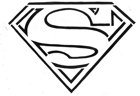 superman logo template superman template clipart best