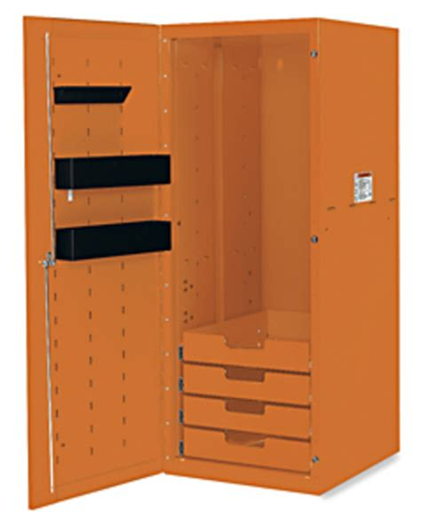 locker 4 drawers 3 shelves electric orange