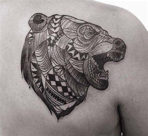 tribal bear head tattoo best 25 tribal ideas on wolf paw