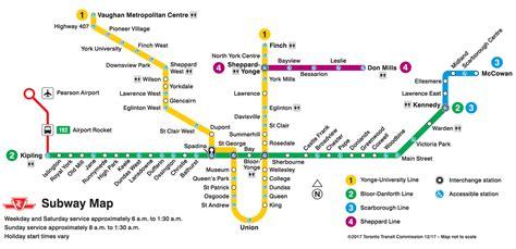 subway system map ttc ttc future system map