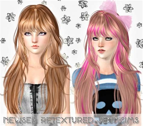 1800s hairstyles for sims 3 the sims 3 cool long hairstyle with bangs newsea hair
