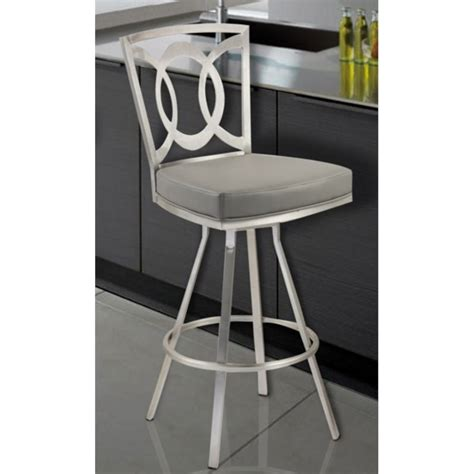 Grey Faux Leather Counter Stools by Armen Living Faux Leather Swivel Counter Stool In