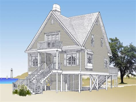 small coastal house plans beach cottage house plans on pilings elevated beach house