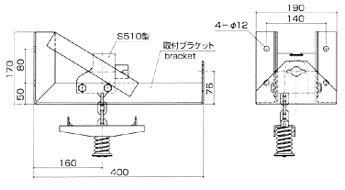 S512 B 三工機器株式会社 スペアタイヤキャリア トラック用
