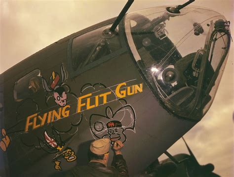 Bomber Assault Green 50 color vintage photographs that capture amazing nose painted on aircrafts during