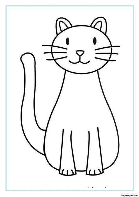 N Drawings Color by The Images Collection Of Sketch Page Easy Cat