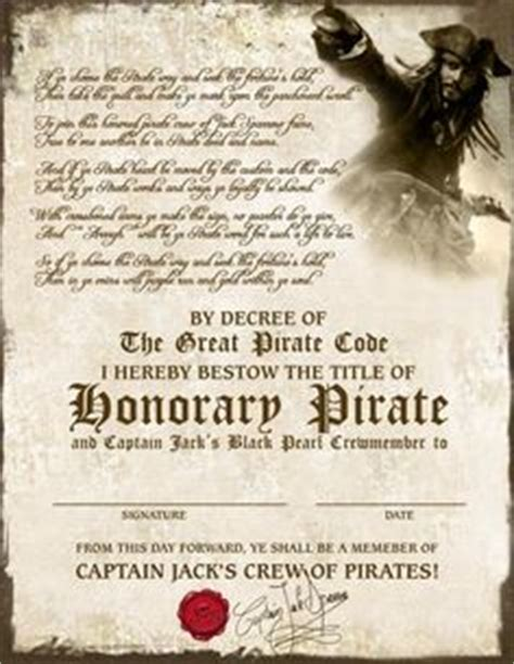 pirate certificate template 1000 images about certificate templates on