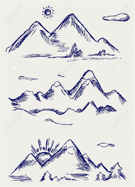 doodle drawing basic mountain doodle search doodles